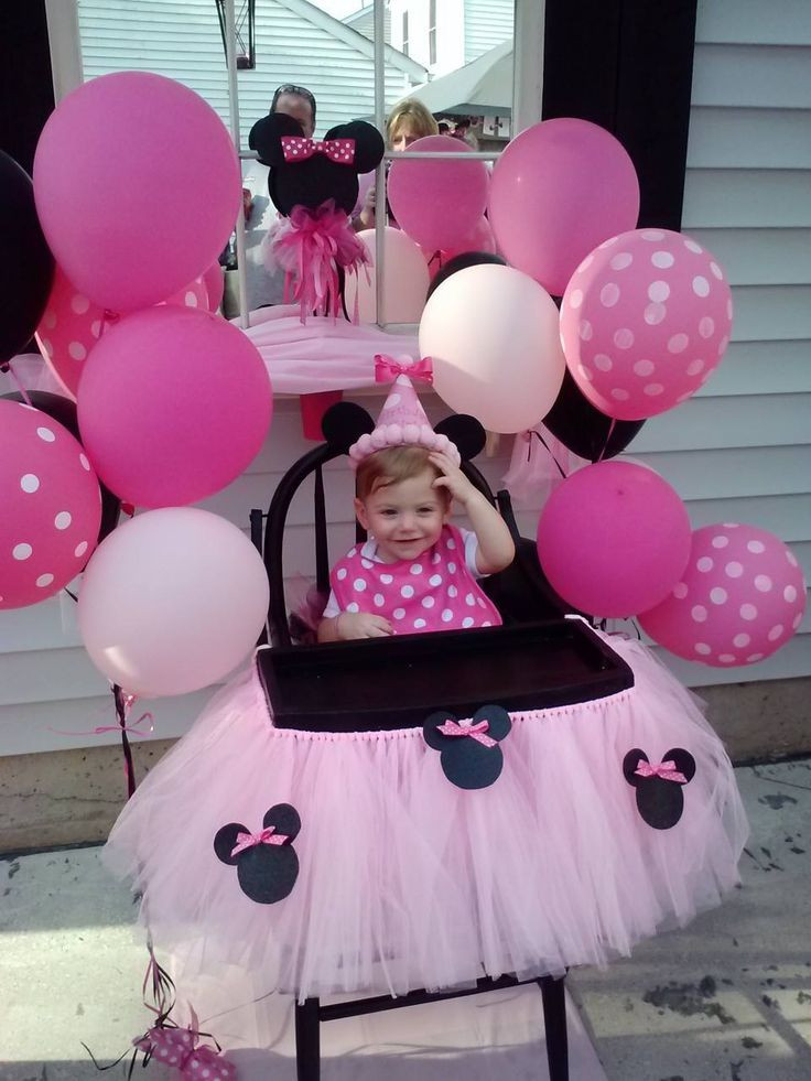 Best ideas about Minnie Mouse First Birthday Decorations . Save or Pin Minnie Mouse 1st birthday party Jose Gutierrez Now.