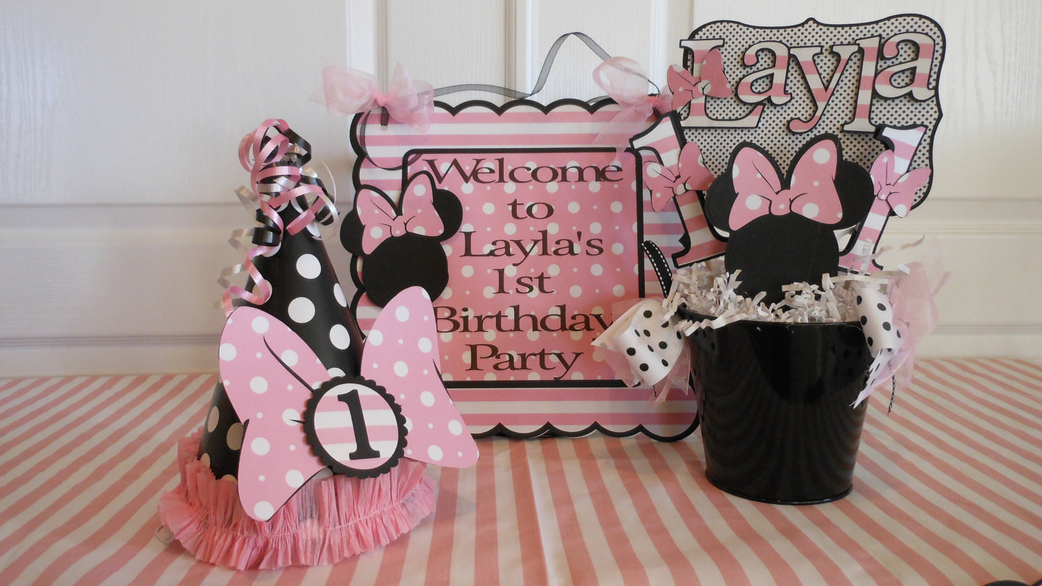 Best ideas about Minnie Mouse First Birthday Decorations . Save or Pin Minnie Mouse Polka Dot 1st Birthday Party by ASweetCelebration Now.