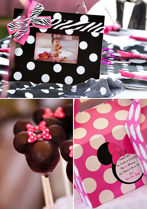 Best ideas about Minnie Mouse First Birthday Decorations . Save or Pin Polka Dot & Pink Minnie Mouse First Birthday Party Now.