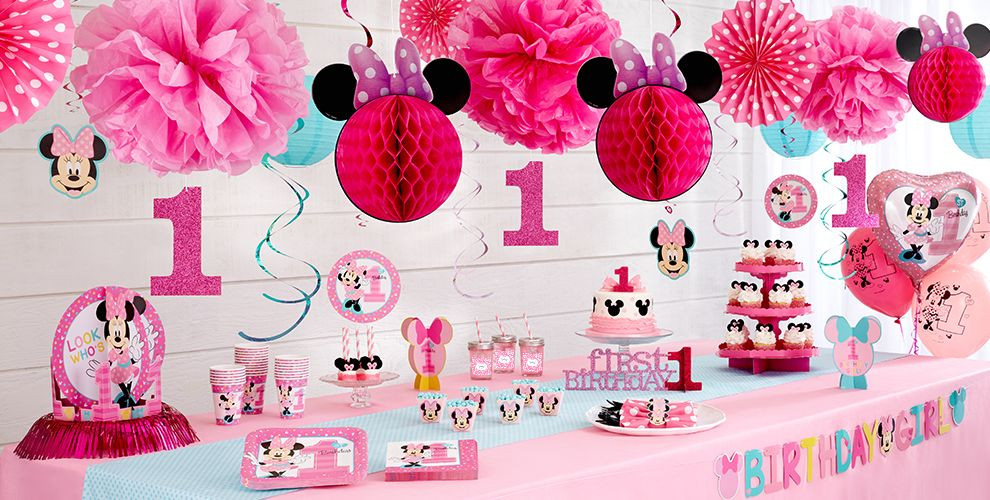 Best ideas about Minnie Mouse First Birthday Decorations . Save or Pin Minnie Mouse 1st Birthday Party Supplies Now.
