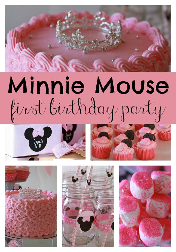 Best ideas about Minnie Mouse First Birthday Decorations . Save or Pin Sweet Minnie Mouse First Birthday Pretty My Party Now.