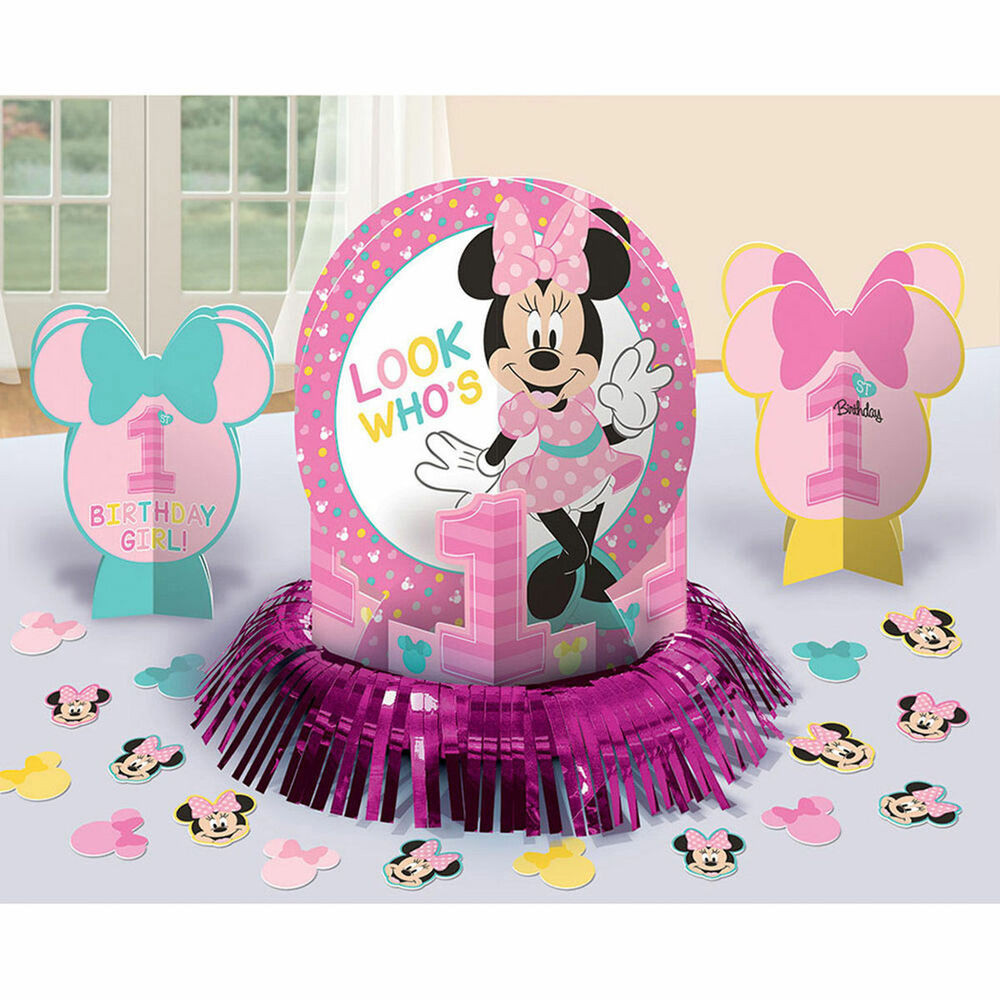 Best ideas about Minnie Mouse First Birthday Decorations . Save or Pin Disney Baby Minnie Mouse 1st Birthday Party Centerpiece Now.