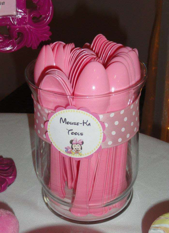 Best ideas about Minnie Mouse First Birthday Decorations . Save or Pin 63 best images about Minnie Mouse s 2 year old Birthday Now.