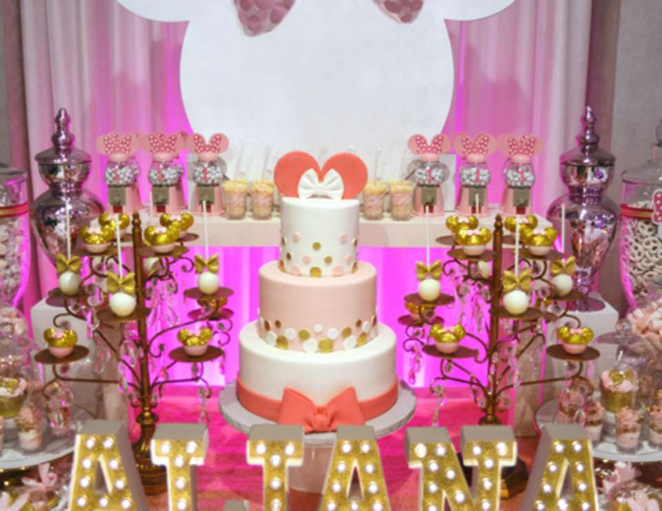 "Best ideas about Minnie Mouse First Birthday Decorations . Save or Pin Minnie Mouse Birthday ""Minnie Mouse 1st Birthday party Now."