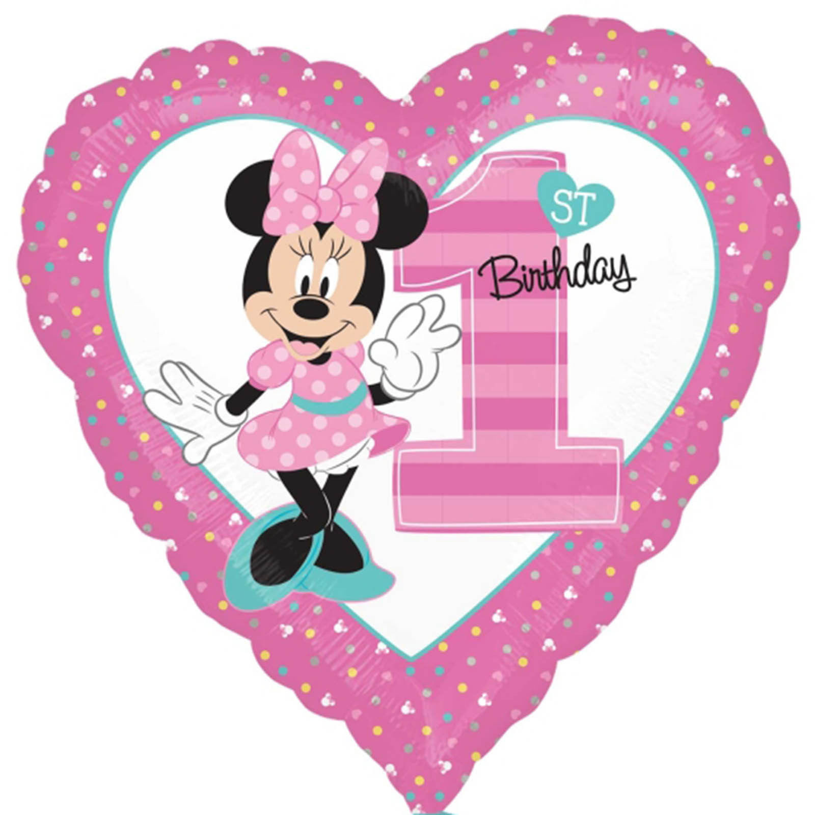 Best ideas about Minnie Mouse First Birthday Decorations . Save or Pin NEW Baby Minnie Mouse 1ST Birthday Balloon Bouquet Party Now.