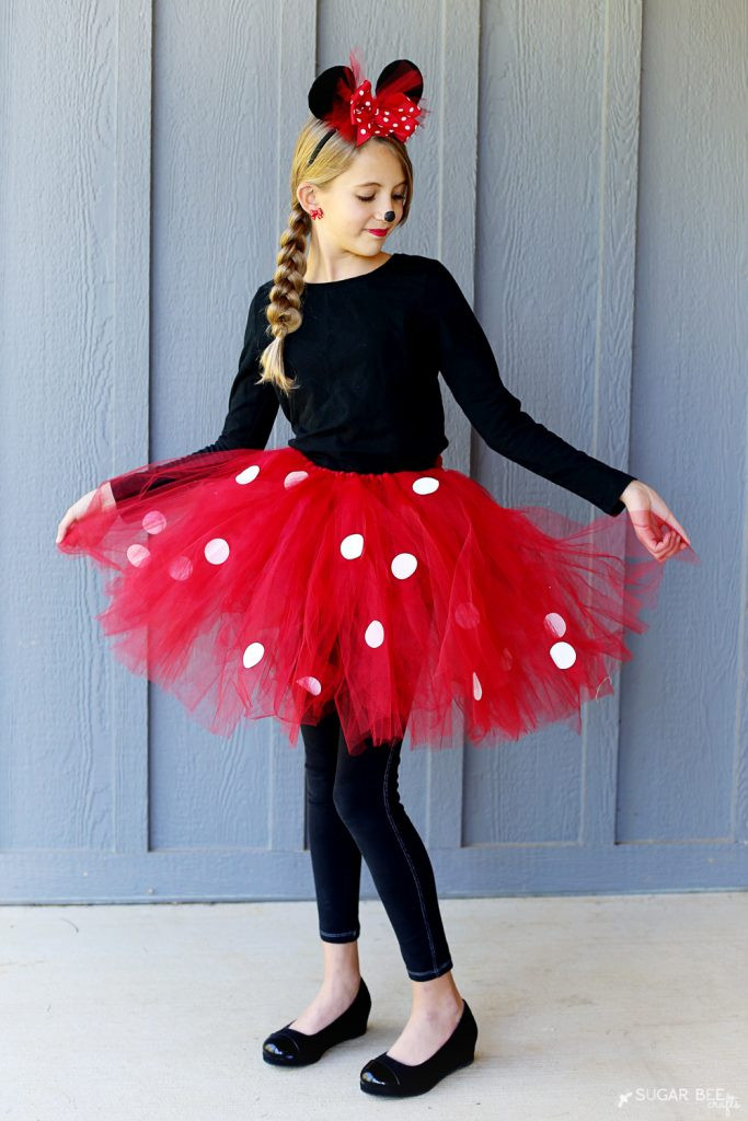 Best ideas about Minnie Mouse Halloween Costume DIY . Save or Pin DIY Minnie Mouse Costume yep NO sew Sugar Bee Crafts Now.