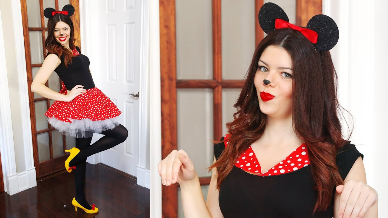 Best ideas about Minnie Mouse Halloween Costume DIY . Save or Pin DIY MINNIE MOUSE HALLOWEEN COSTUME NO SEW Now.