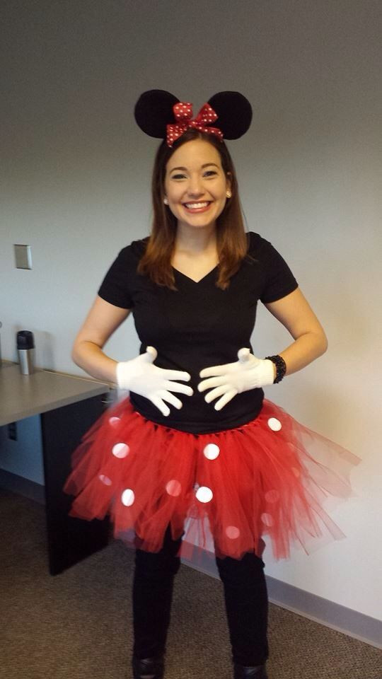 Best ideas about Minnie Mouse Halloween Costume DIY . Save or Pin Easy DIY Minnie Mouse costume DIY red tulle tutu with Now.