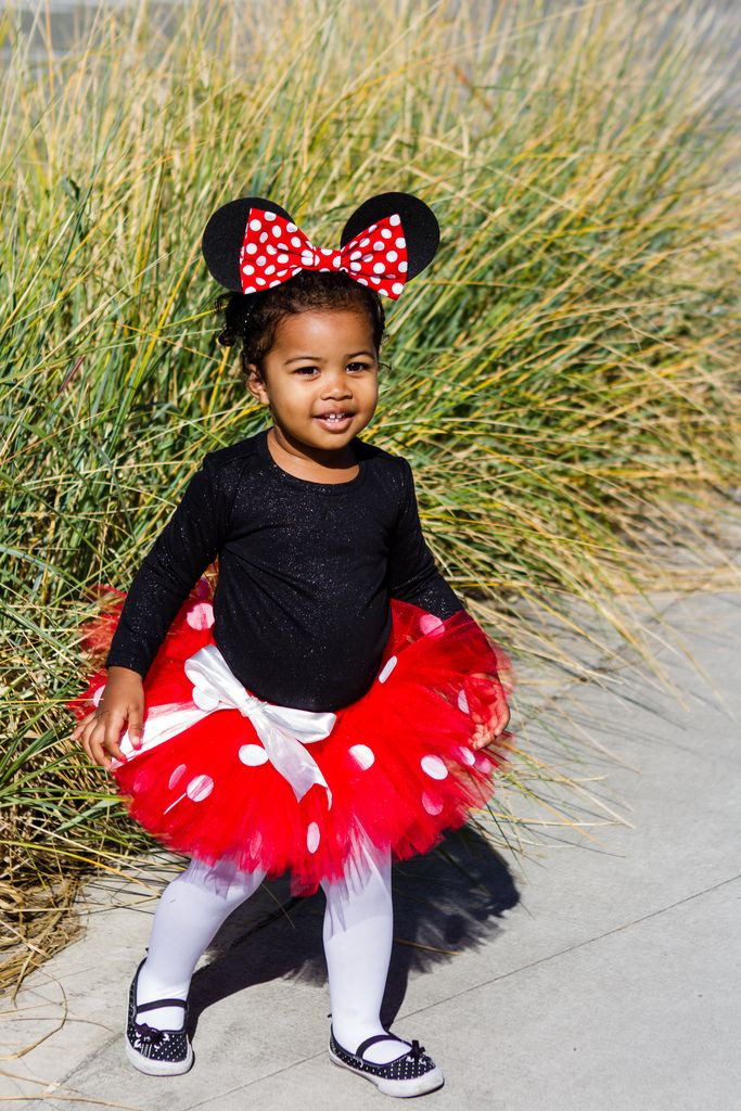 Best ideas about Minnie Mouse Halloween Costume DIY . Save or Pin Minnie Costume for the girls when we go to Mickey s Not So Now.