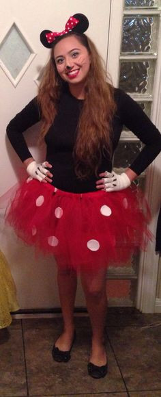 Best ideas about Minnie Mouse Halloween Costume DIY . Save or Pin DIY Minnie Mouse Costume for a woman DIY Now.