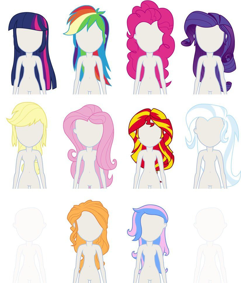 Best ideas about Mlp Hairstyles . Save or Pin EqG Dress Up preview hairstyles by Liggliluff on Now.
