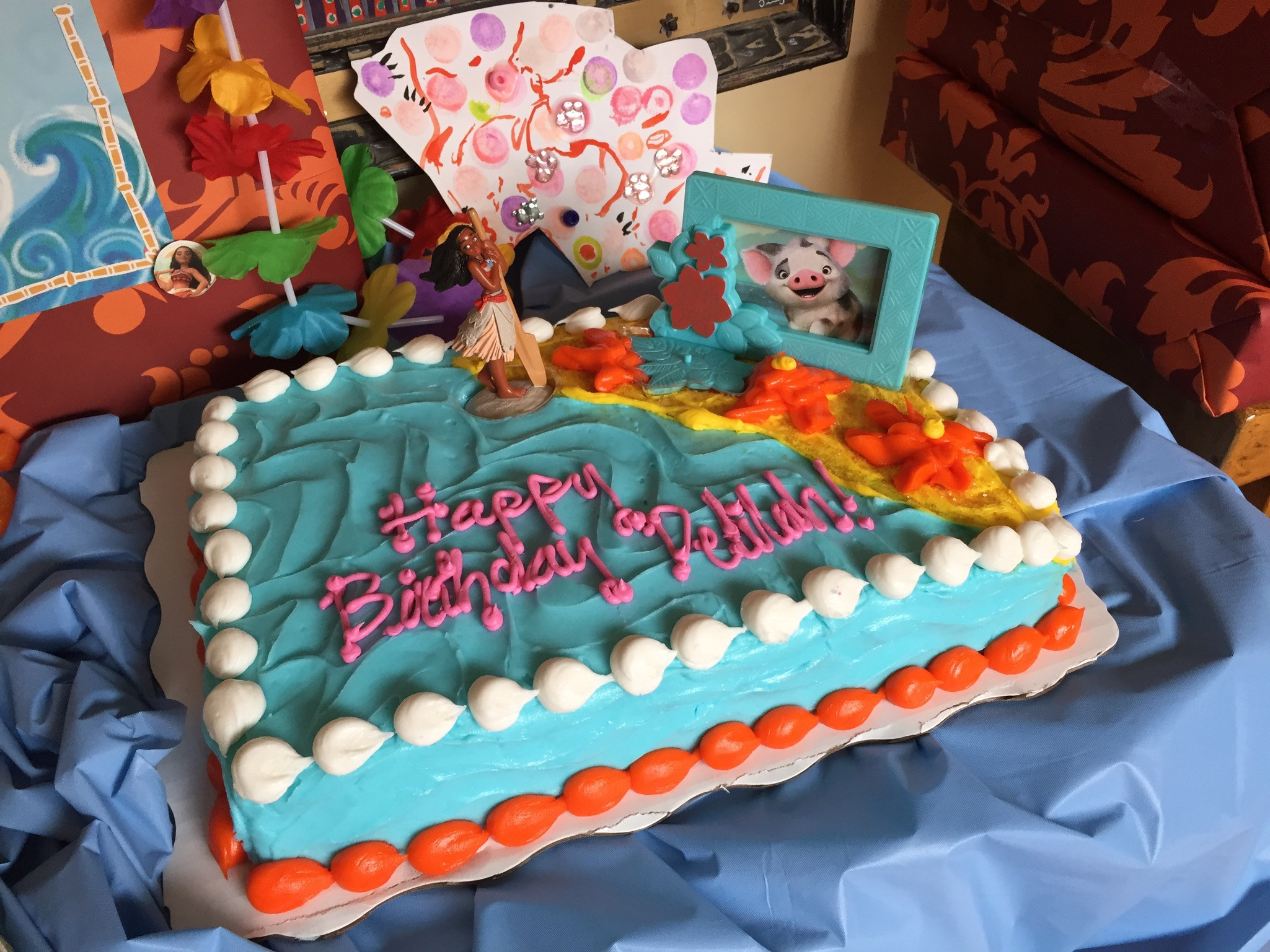 Best ideas about Moana Birthday Cake Walmart . Save or Pin Delilah s Moana Themed 5th Birthday Cathie Filian Now.
