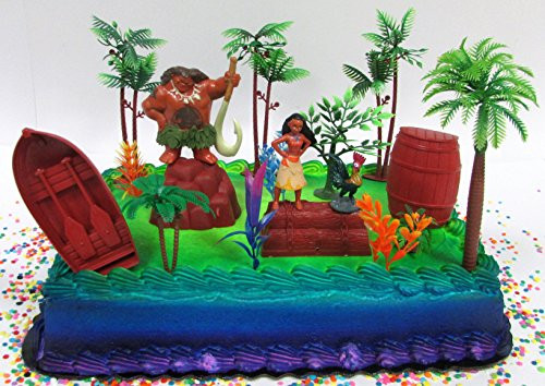 Best ideas about Moana Birthday Cake Walmart . Save or Pin Moana Tropical Themed Birthday Cake Topper Set Featuring Now.
