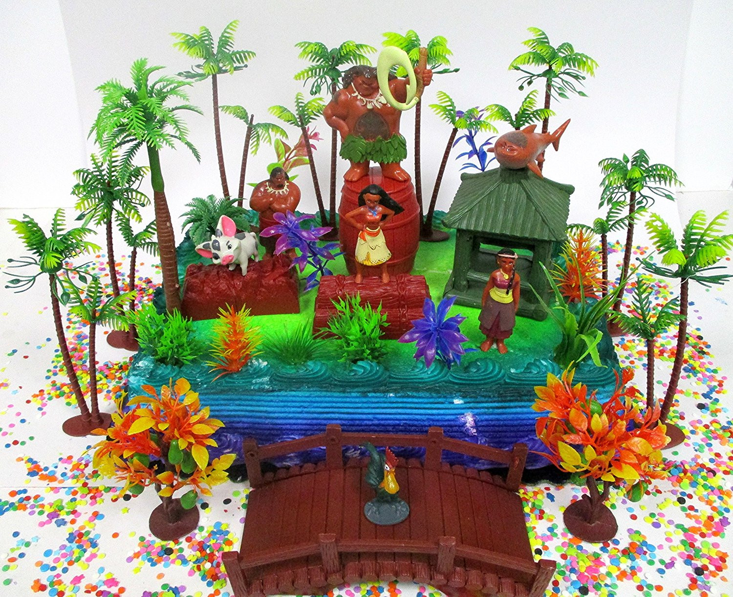 Best ideas about Moana Birthday Cake Walmart . Save or Pin MOANA Birthday Cake Topper Set Featuring Various Now.