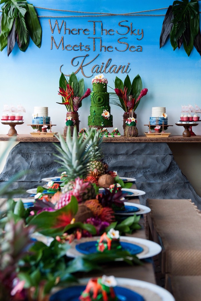 Best ideas about Moana Birthday Party Decorations . Save or Pin Kara s Party Ideas Moana Inspired Birthday Party Now.