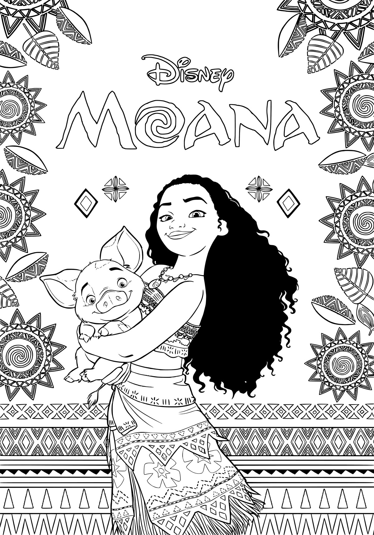 Best ideas about Moana Coloring Sheets For Girls . Save or Pin Moana Coloring Pages Best Coloring Pages For Kids Now.