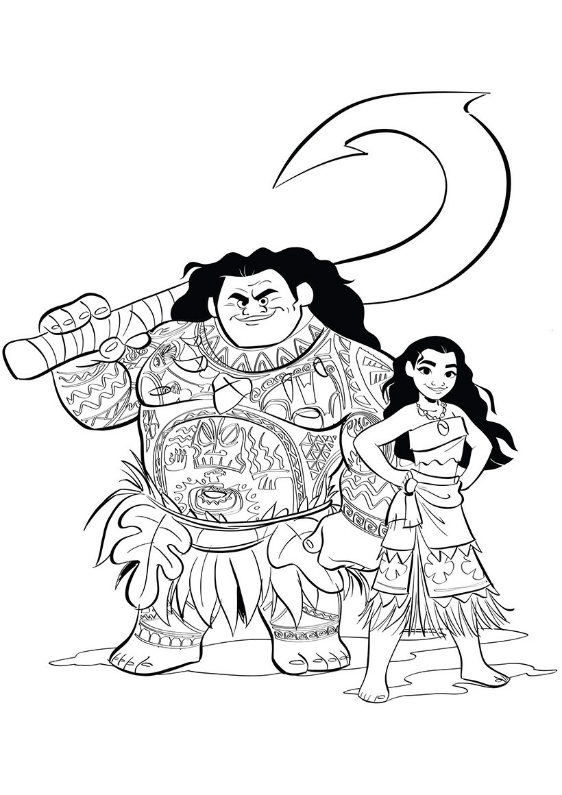 Best ideas about Moana Coloring Sheets For Girls . Save or Pin Moana coloring pages to and print for free Now.