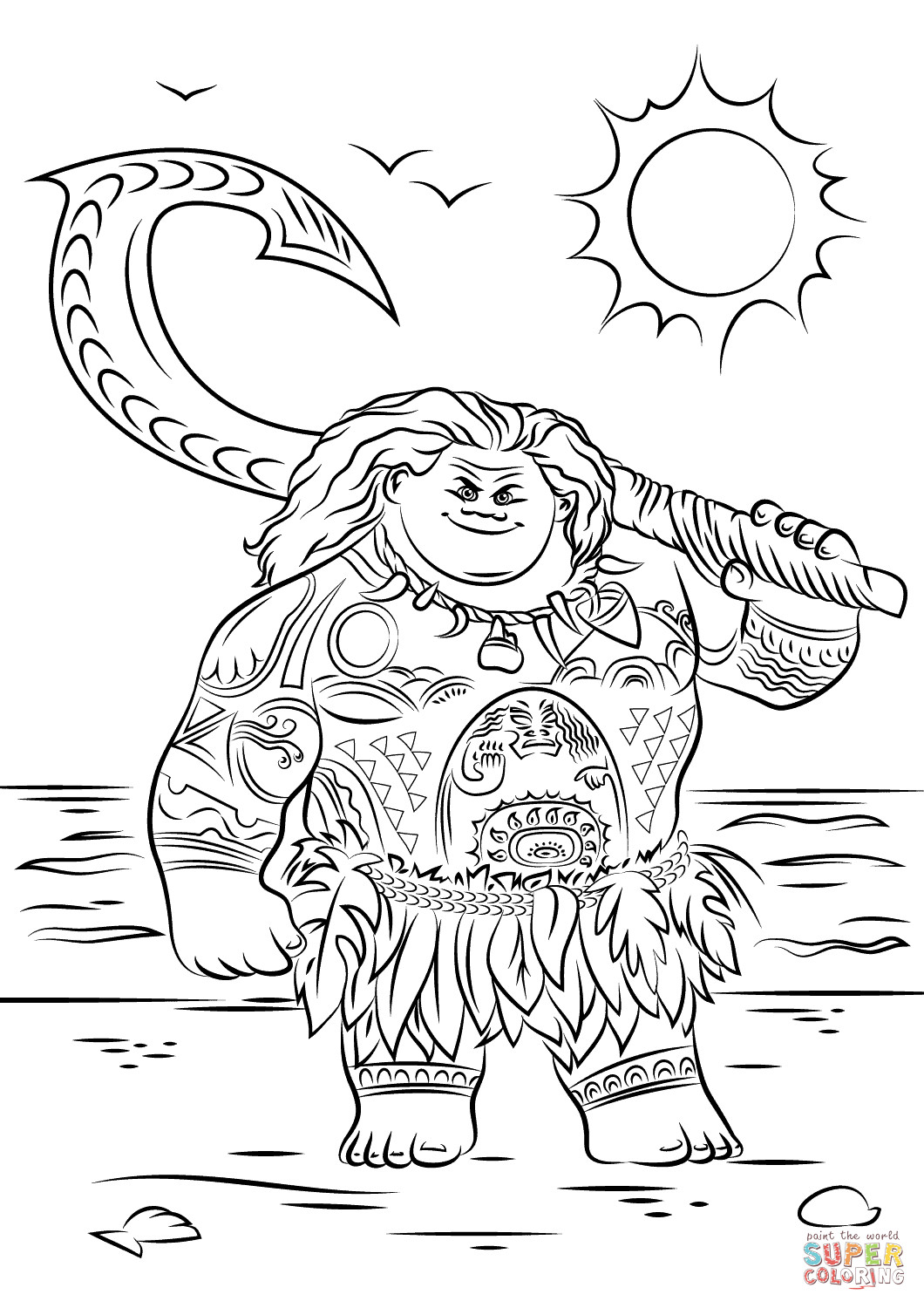 Best ideas about Moana Coloring Sheets For Girls . Save or Pin Moana Coloring Pages Coloring Home Now.