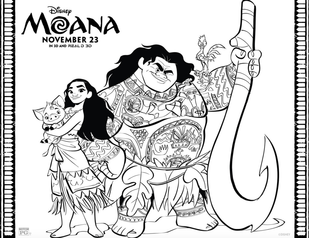 Best ideas about Moana Coloring Sheets For Girls . Save or Pin Moana Coloring Pages and Activity Sheets Moana ABC Now.