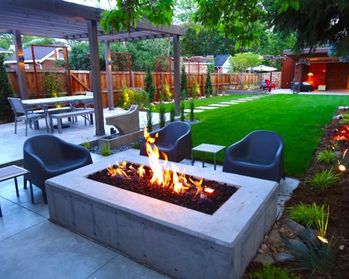 Best ideas about Modern Backyard Ideas . Save or Pin Modern Backyard Landscape Ideas Remodel and Decor Now.