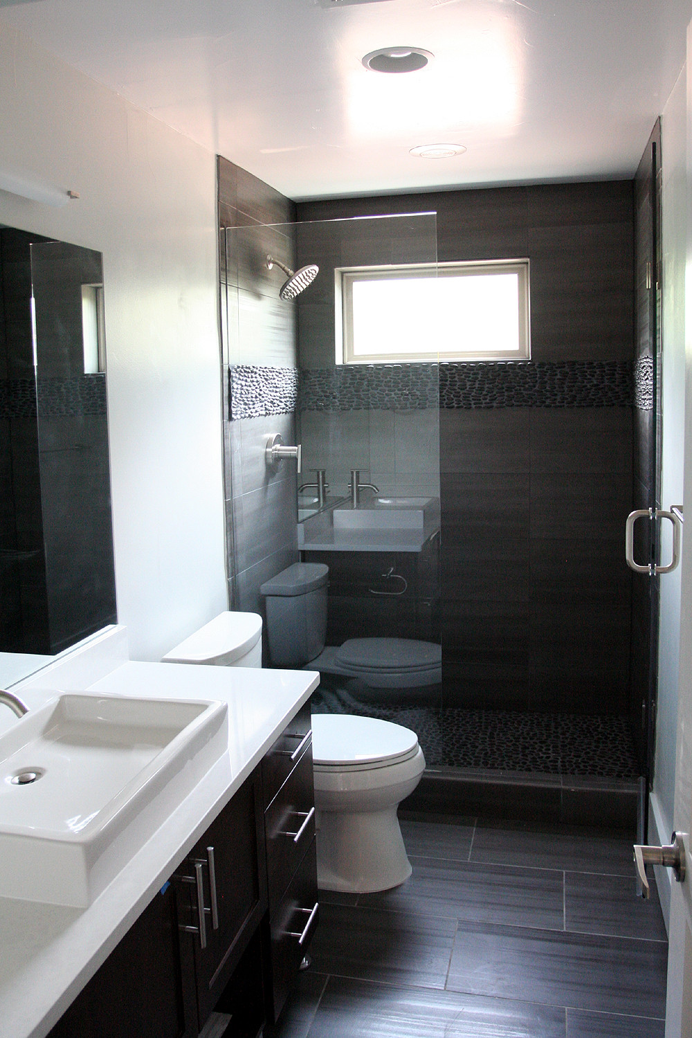 Best ideas about Modern Bathroom Ideas . Save or Pin Fantastic Finishes on a Contemporary Denver Duplex Now.