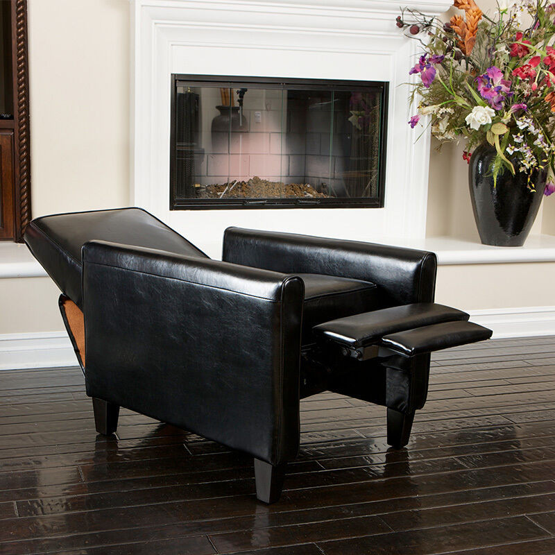 Best ideas about Modern Recliner Chair . Save or Pin Living Room Furniture Modern Design Black Leather Recliner Now.