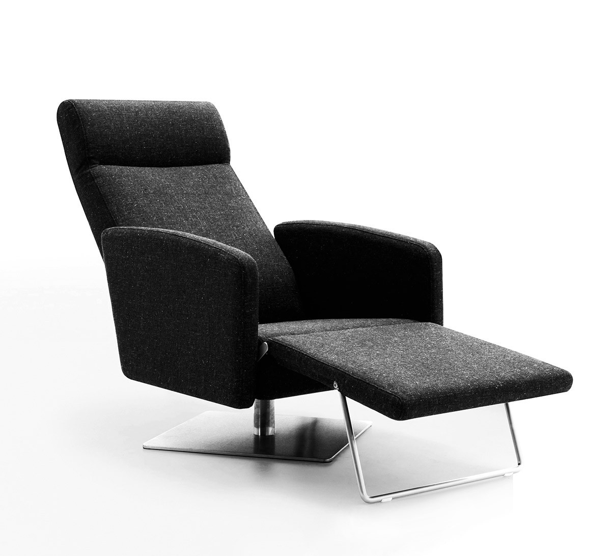Best ideas about Modern Recliner Chair . Save or Pin Abbot Modern Fabric Reclining Lounge Chair Now.