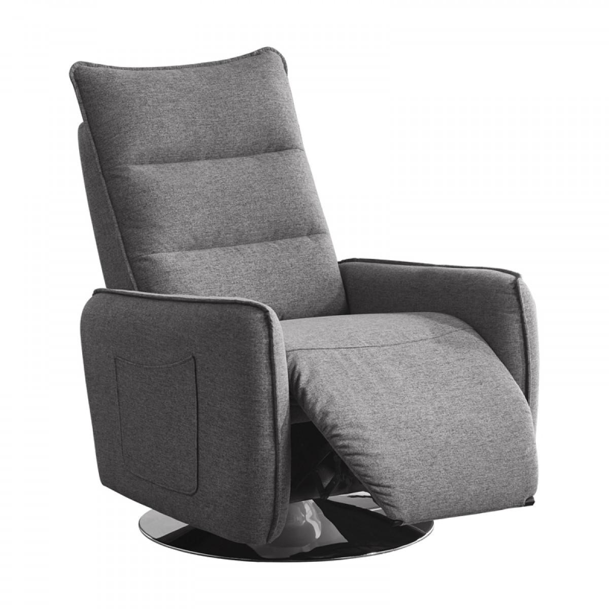 Best ideas about Modern Recliner Chair . Save or Pin Divani Casa Fairfax Modern Grey Fabric Recliner Chair Now.