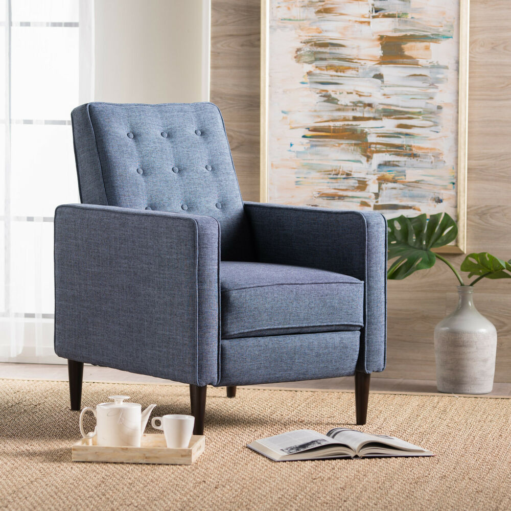 Best ideas about Modern Recliner Chair . Save or Pin Macedonia Mid Century Modern Tufted Back Fabric Recliner Now.