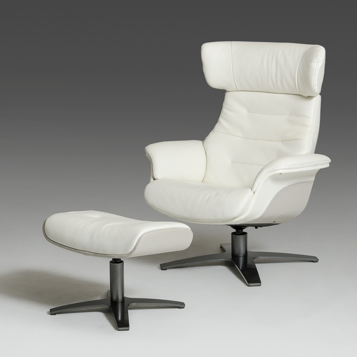 Best ideas about Modern Recliner Chair . Save or Pin Modern White and Grey Genuine Leather Reclining Chair and Now.