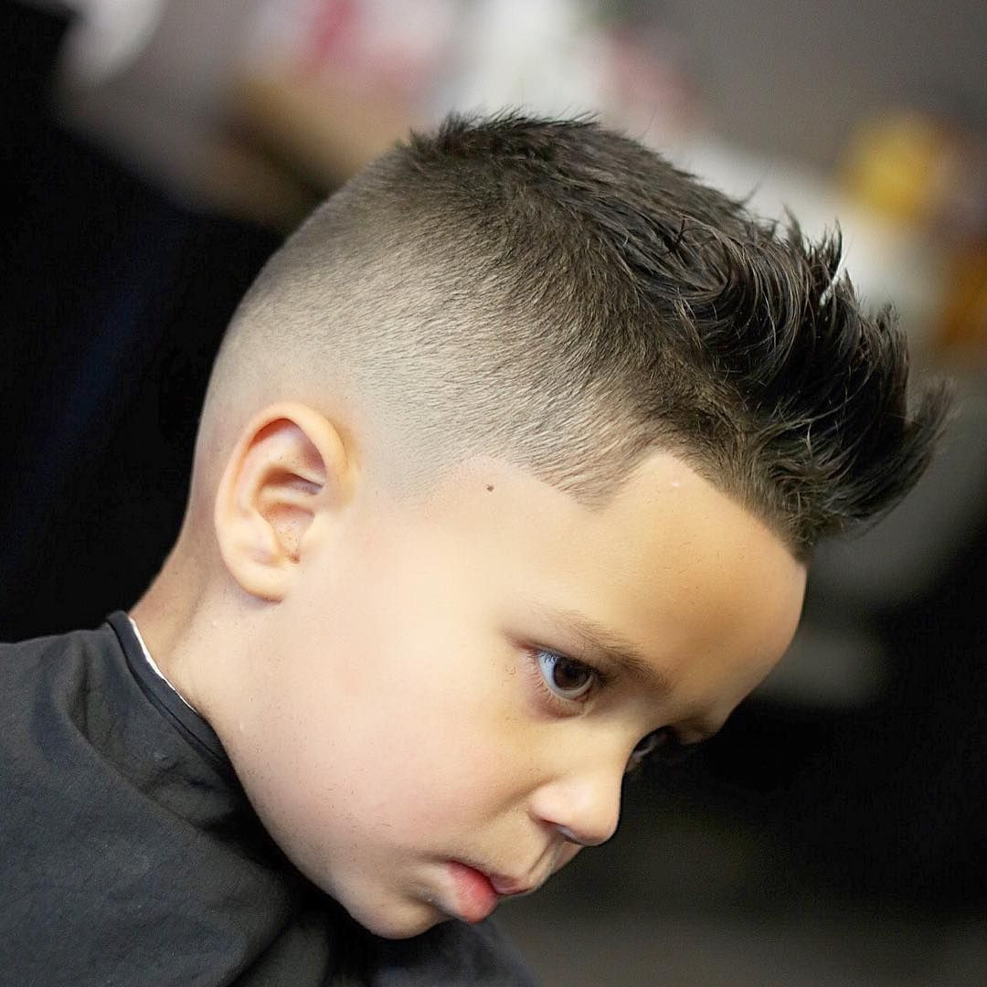 Best ideas about Mohawk Hairstyles For Kids . Save or Pin Mohawk With Line Up haircuts for boy Now.