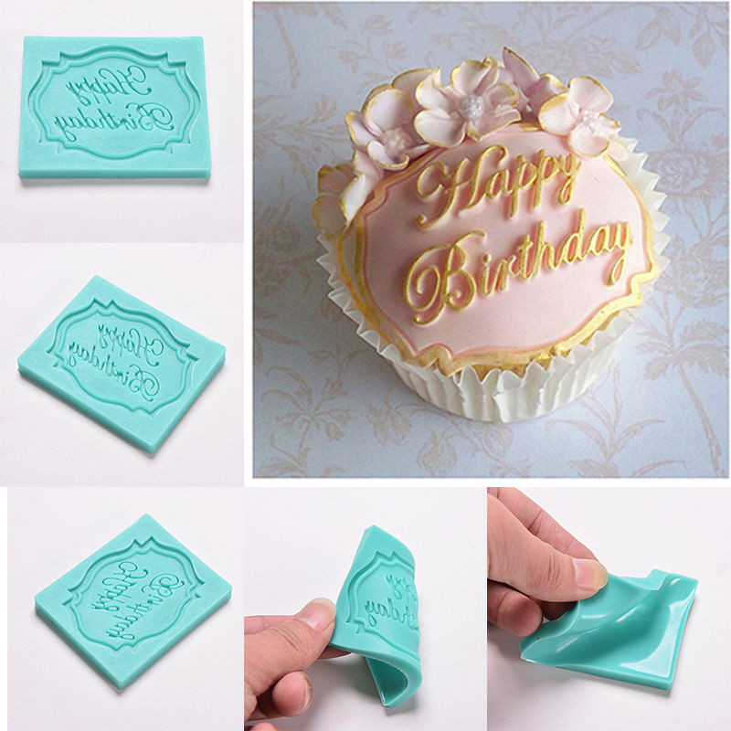 Best ideas about Moldy Birthday Cake . Save or Pin Happy Birthday Letter Print Mold Cake Cupcake Decoration Now.