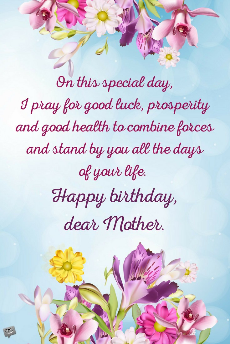 Best ideas about Mom Birthday Wishes . Save or Pin Birthday Prayers for Mothers Now.
