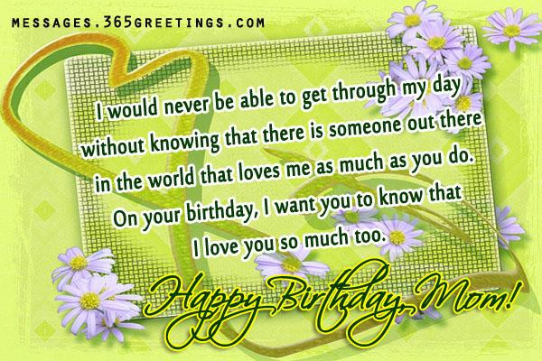 Best ideas about Mom Birthday Wishes . Save or Pin Birthday Wishes for Mother 365greetings Now.