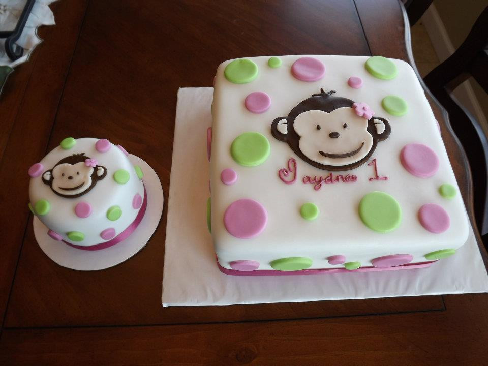 Best ideas about Monkey Birthday Cake . Save or Pin Shelly Baby s Custom Cakes Mod Monkey Birthday Cake Now.