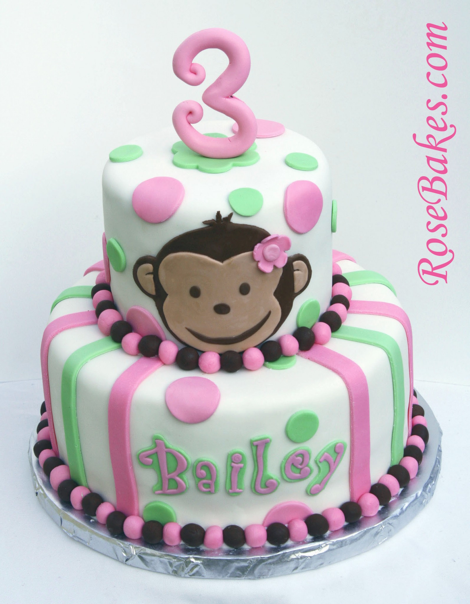 Best ideas about Monkey Birthday Cake . Save or Pin Pink Mod Monkey Cake Now.