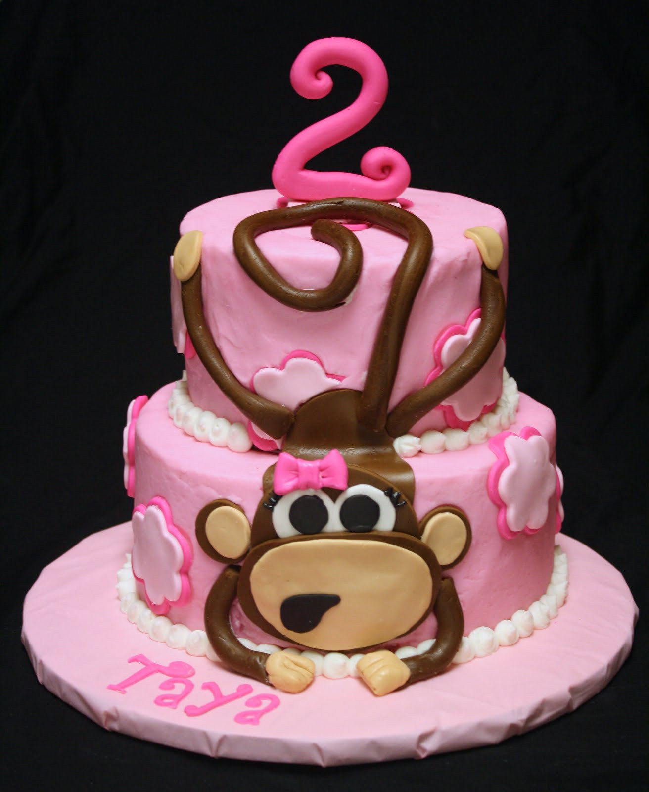 Best ideas about Monkey Birthday Cake . Save or Pin Rose Bakes A Pink Monkey Cake Now.