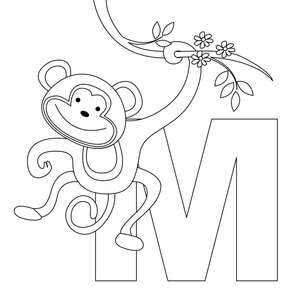 Best ideas about Monkey Printable Coloring Pages . Save or Pin Free Printable Monkey Coloring Pages For Kids Now.