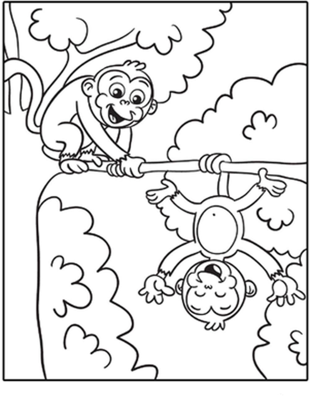 Best ideas about Monkey Printable Coloring Pages . Save or Pin Monkey Coloring Book Page Coloring Home Now.
