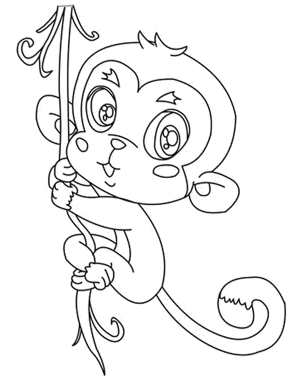 Best ideas about Monkey Printable Coloring Pages . Save or Pin Cute Baby Monkey Coloring Pages Printables Coloring Home Now.