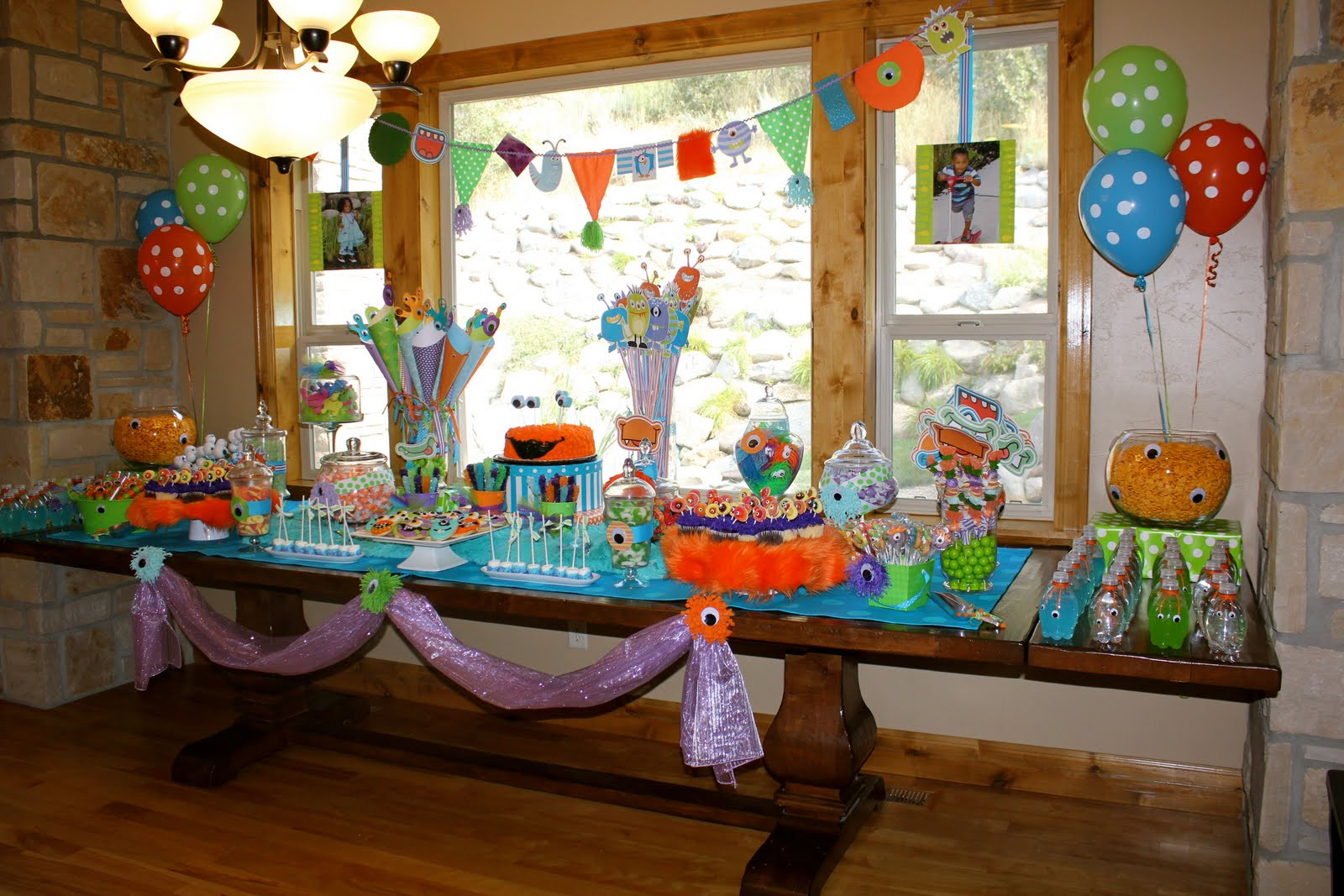 Best ideas about Monster Birthday Decorations . Save or Pin Bridgey Widgey Monster Birthday Party Now.