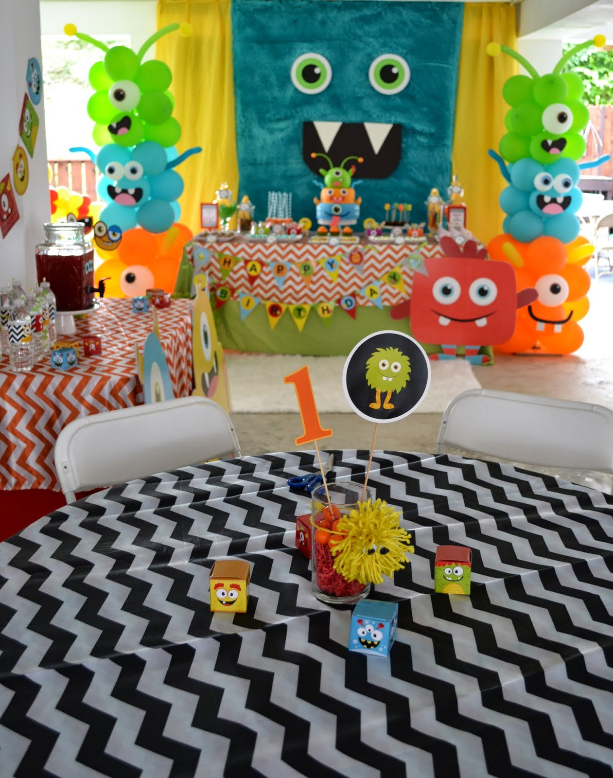 Best ideas about Monster Birthday Decorations . Save or Pin Partylicious Events PR Little Monster Birthday Bash Now.