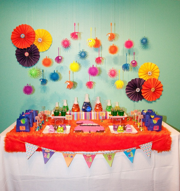 Best ideas about Monster Birthday Decorations . Save or Pin A Colorful Little Monster Birthday Party Party Ideas Now.