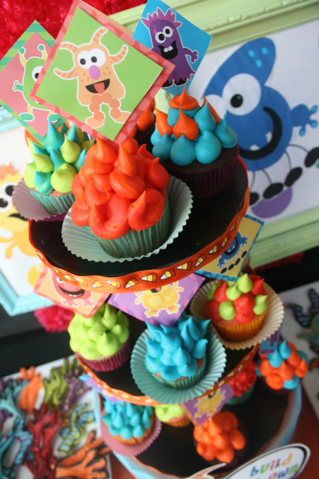 Best ideas about Monster Birthday Decorations . Save or Pin Kara s Party Ideas Colorful Monster Bash Party Now.