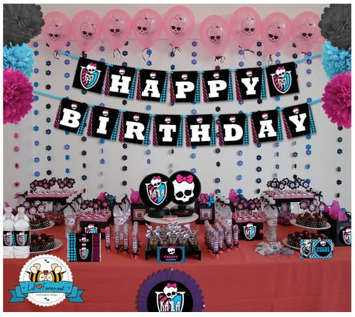Best ideas about Monster High Birthday Decorations . Save or Pin Monster High Birthday Party Printable Decorations Now.