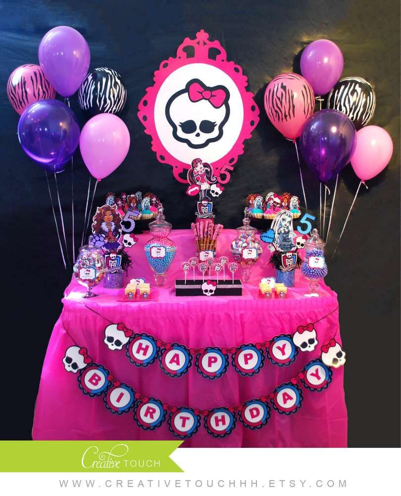 Best ideas about Monster High Birthday Decorations . Save or Pin Monster High Birthday Party Ideas in 2019 Now.