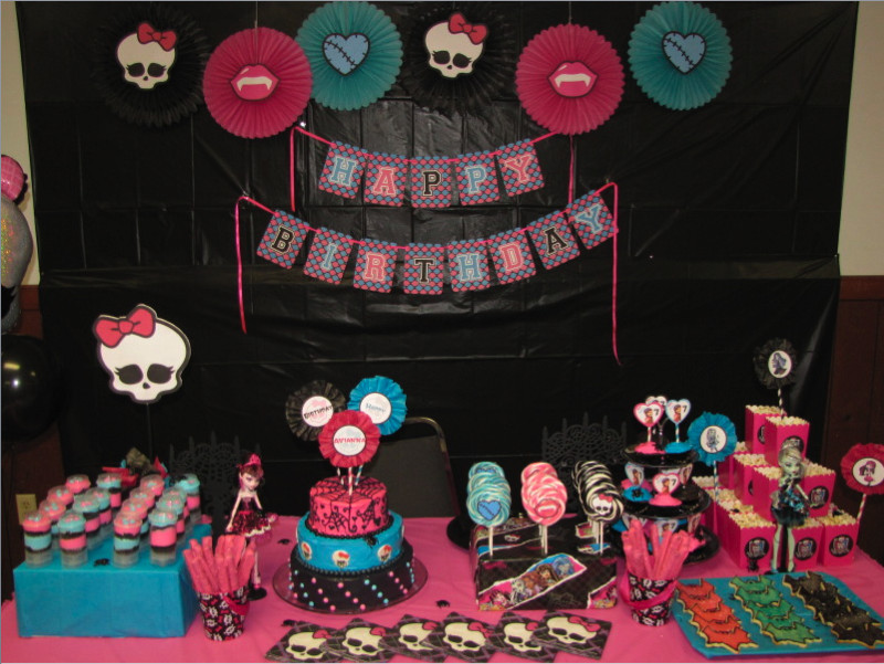 Best ideas about Monster High Birthday Decorations . Save or Pin Home Confetti Monster High Birthday Party Now.