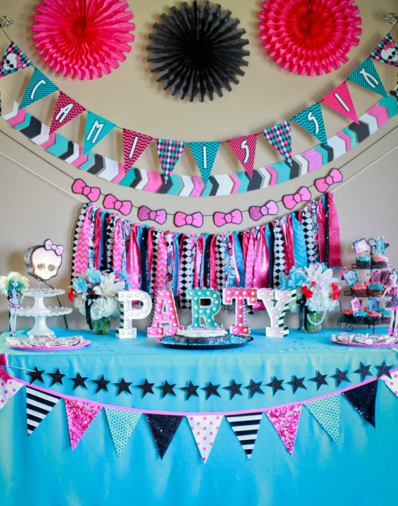 Best ideas about Monster High Birthday Decorations . Save or Pin Monster High Party Cami s 6th Birthday – Ellery Designs Now.