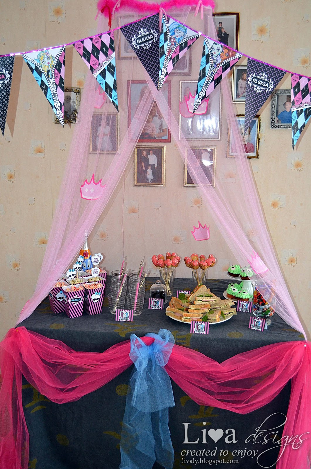 Best ideas about Monster High Birthday Party . Save or Pin Livas crafts Monster High Party Now.