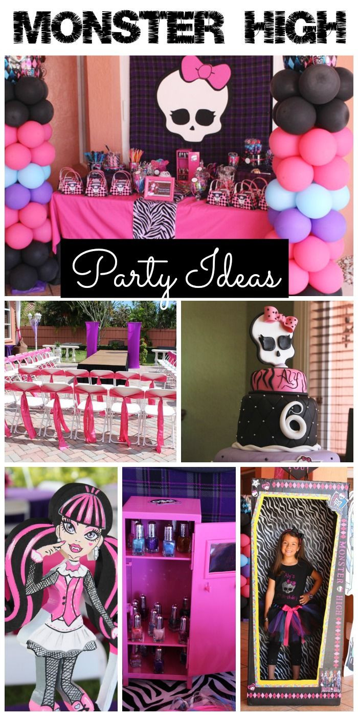 """Best ideas about Monster High Birthday Party . Save or Pin Monster High Birthday """"Monster High Scare Riffic Party Now."""